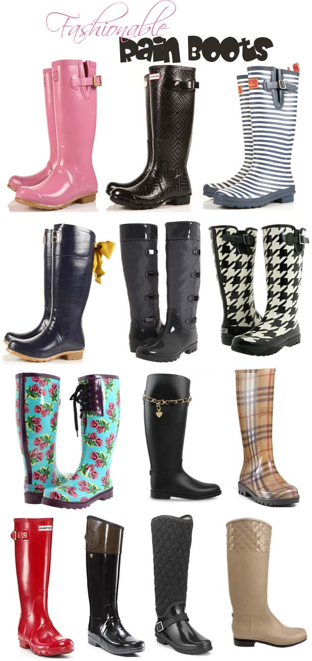 Fashionable Rain Boots - Boot Hto