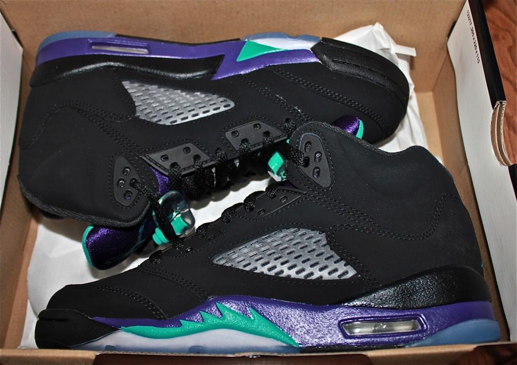 Air Jordan V Black Grape   Tia Alese WongJordan Grape 5 Black On Feet