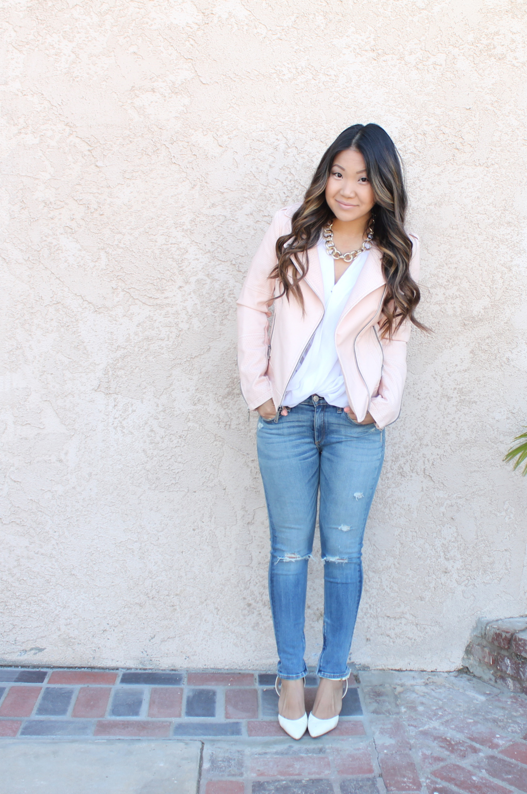 1000+ images about how to wear light pink leather jacket on Pinterest | Pink leather jackets ...