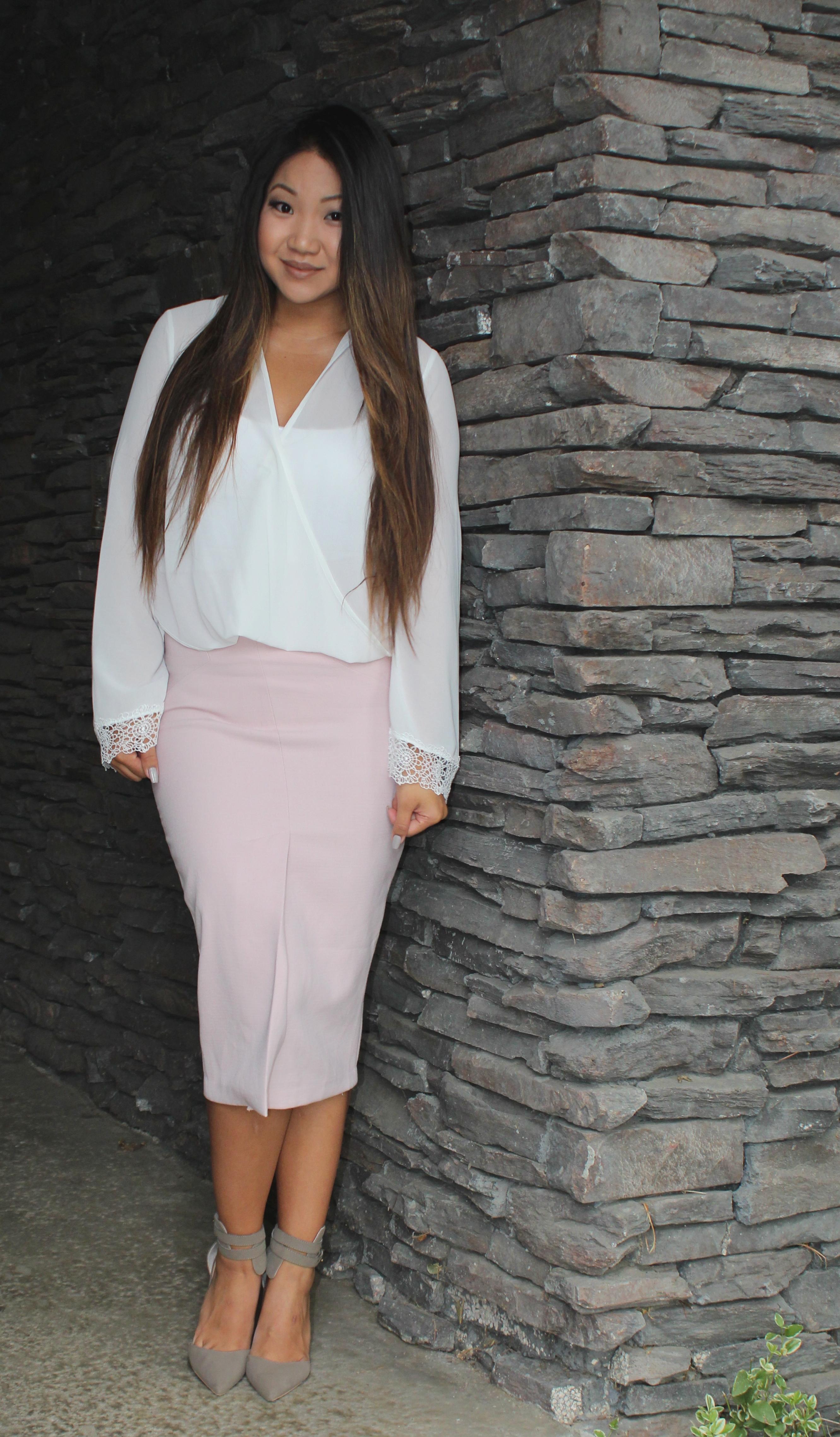 Front Slit Pencil Skirt