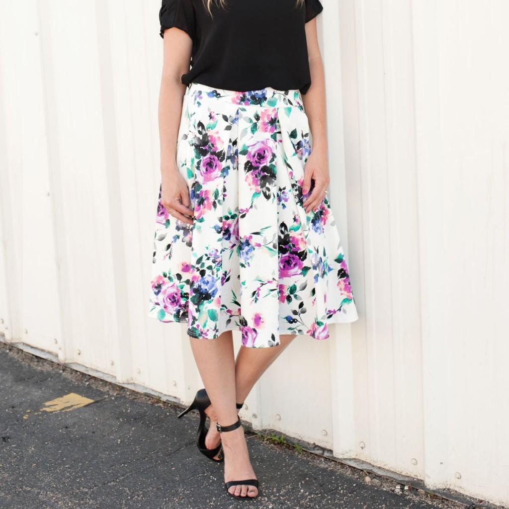 Rose Floral Skirt