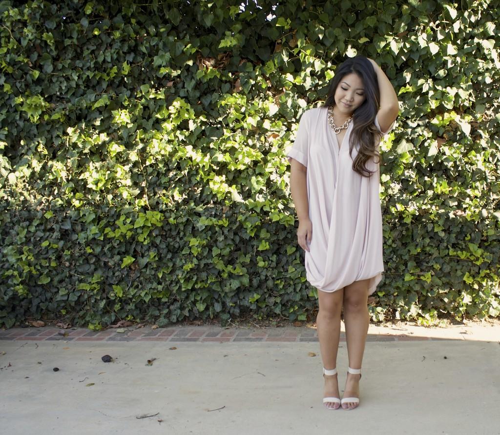 Drape Front Tunic Dress