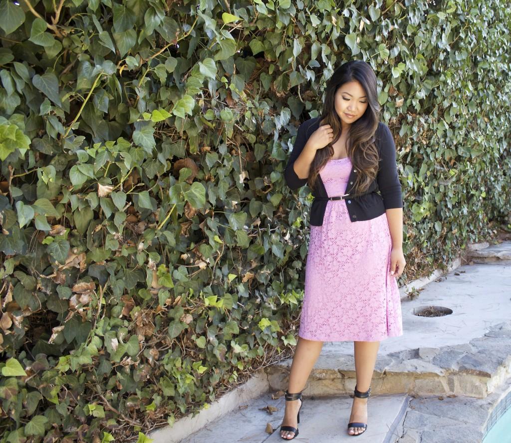Floral Lace Bandeau Dress