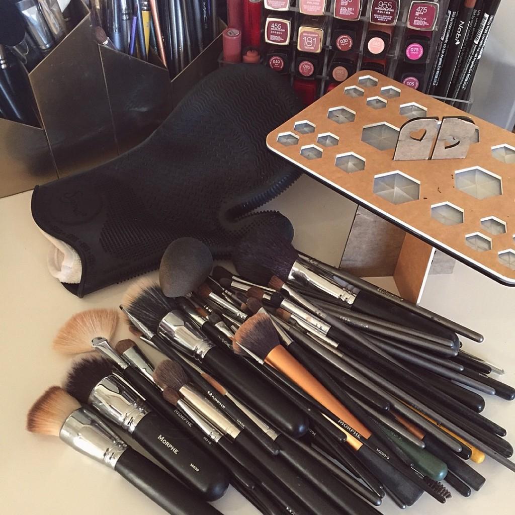 Makeup brush cleaning essentials