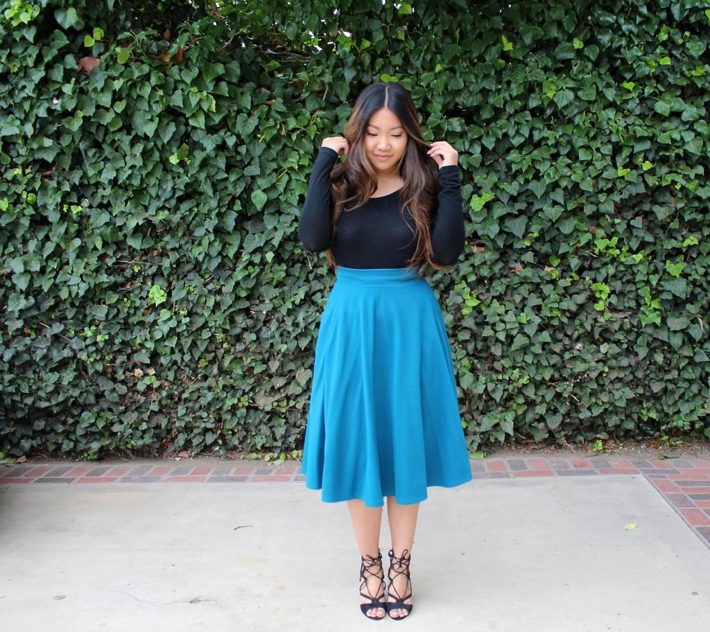 Tia Wong - Sunday Best - Teal Skater Skirt