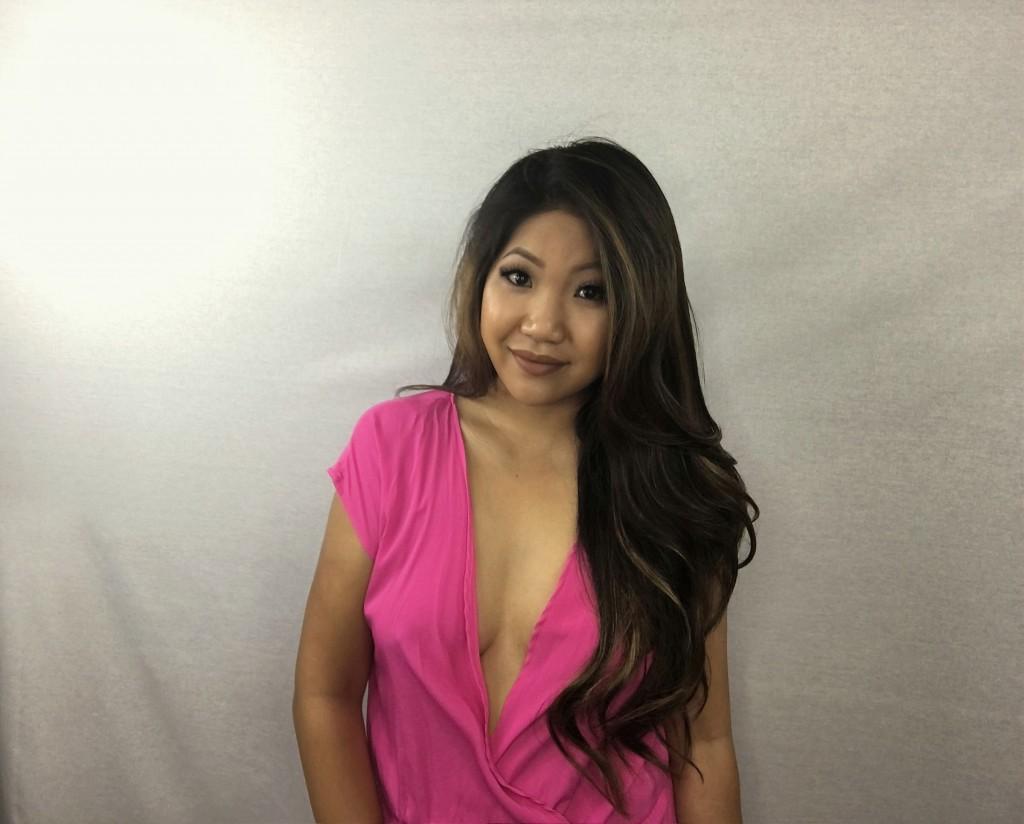Tia Wong - Hot Pink Romper