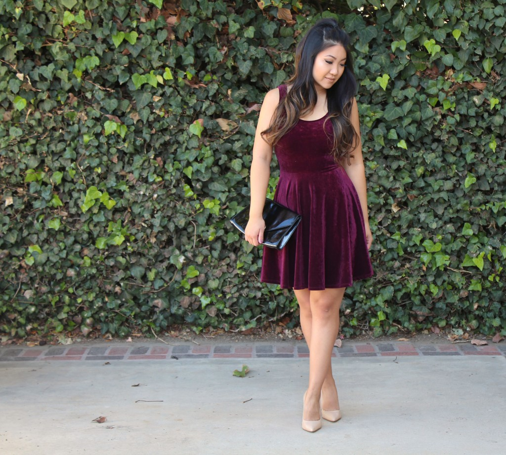 Tia Wong - Velvet Skater Dress