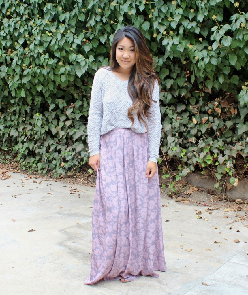 Sunday Best - Painted Threads Floral Maxi Skirt