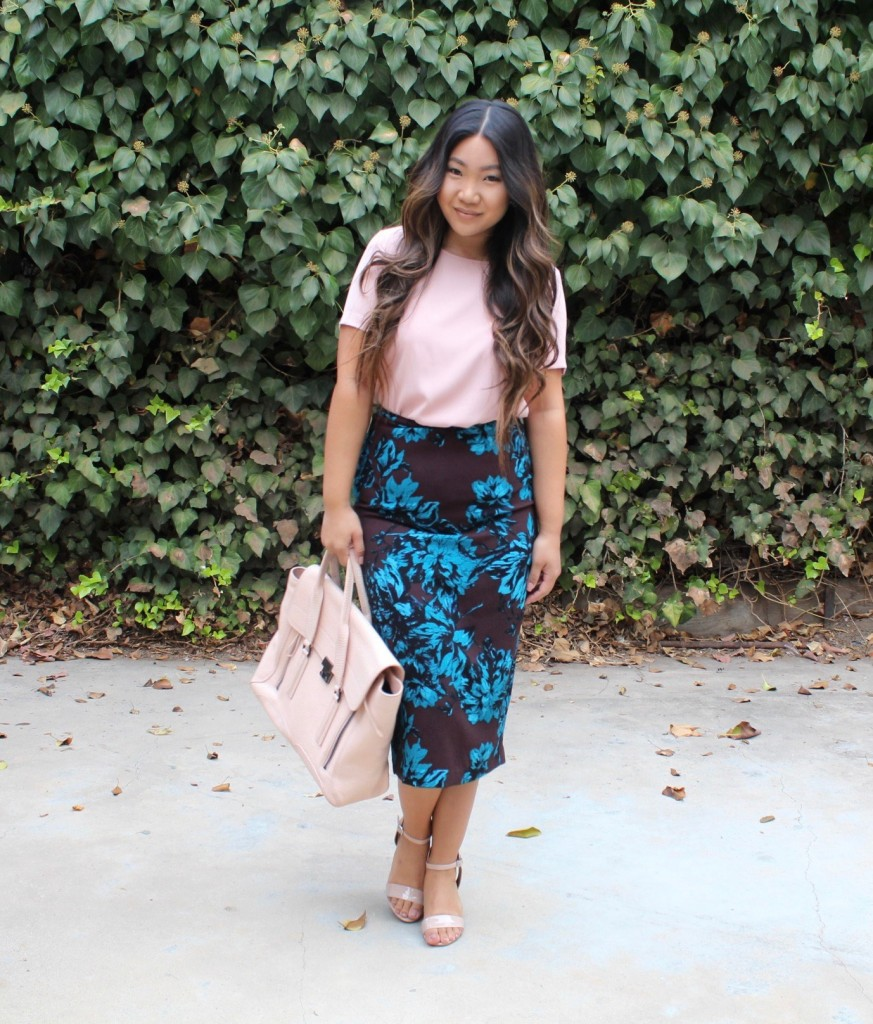 church outfit - Who What Wear Floral Pencil Skirt