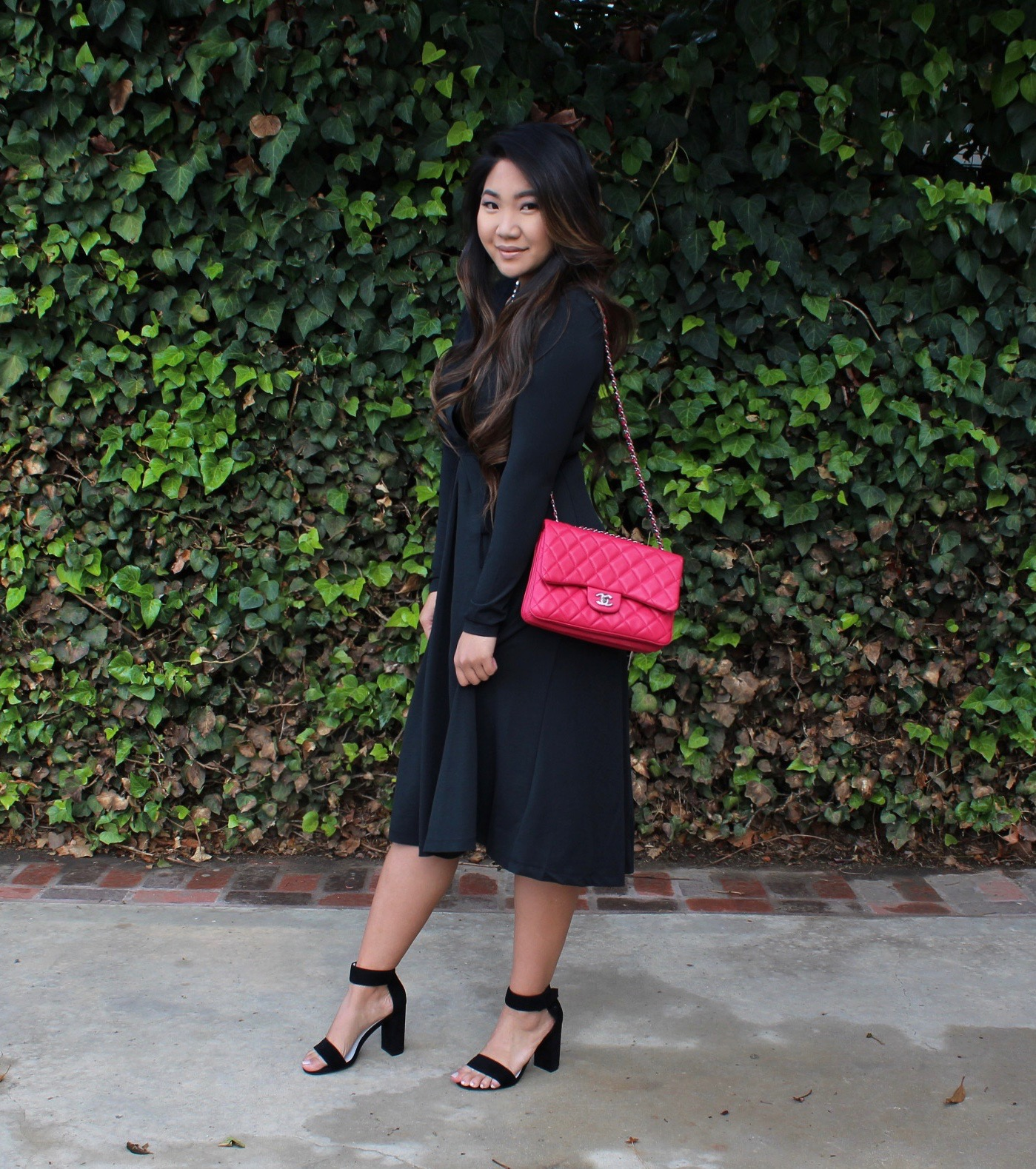 Sunday Best - The Perfect Black Long Sleeve Wrap Dress