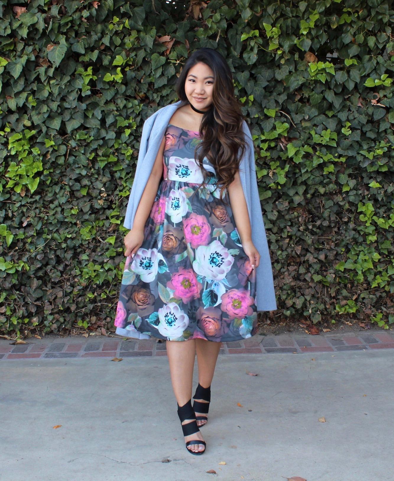 Tia Wong - ASOS Floral Midi Dress