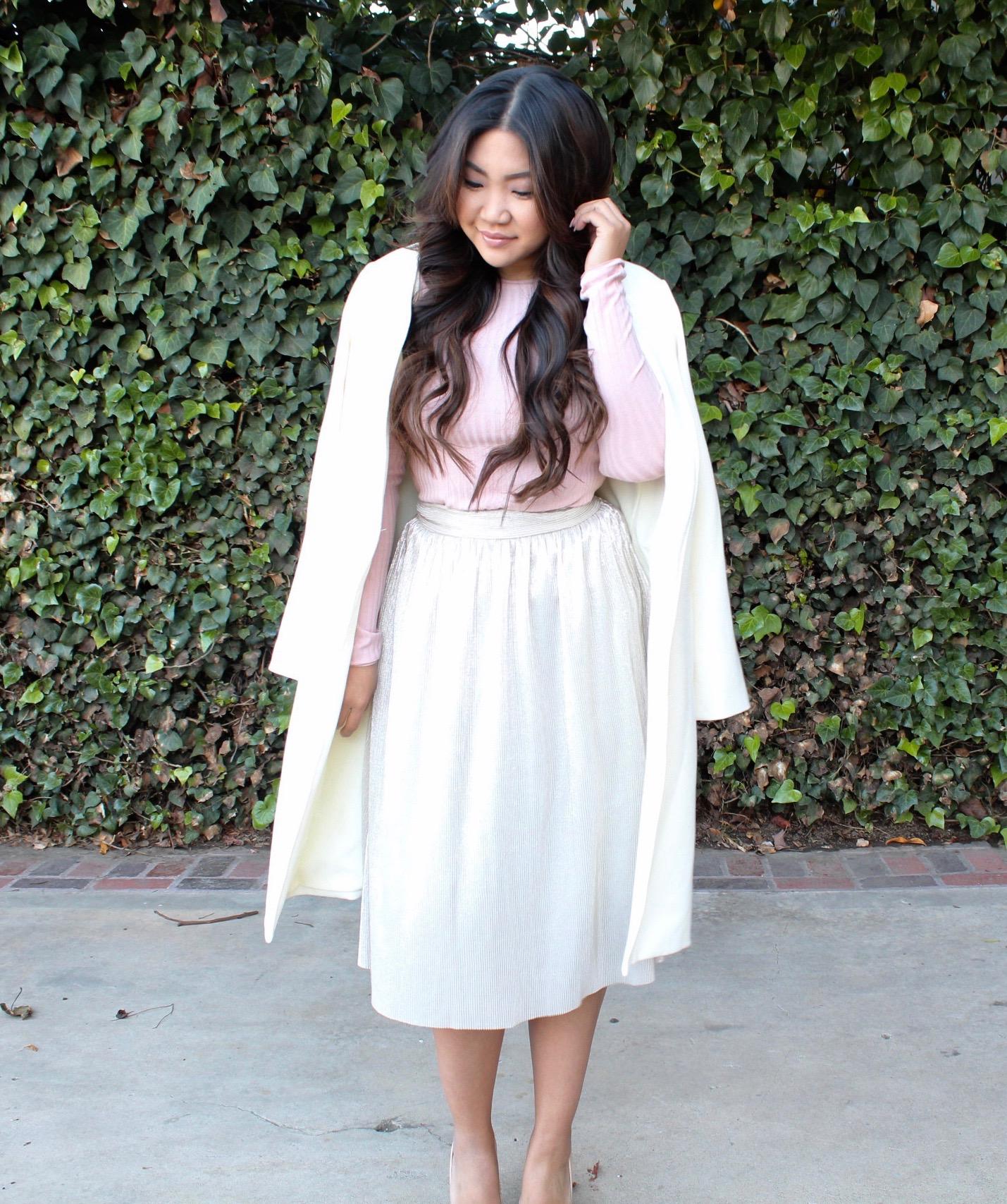Who What Wear Micro Pleat Midi Skirt