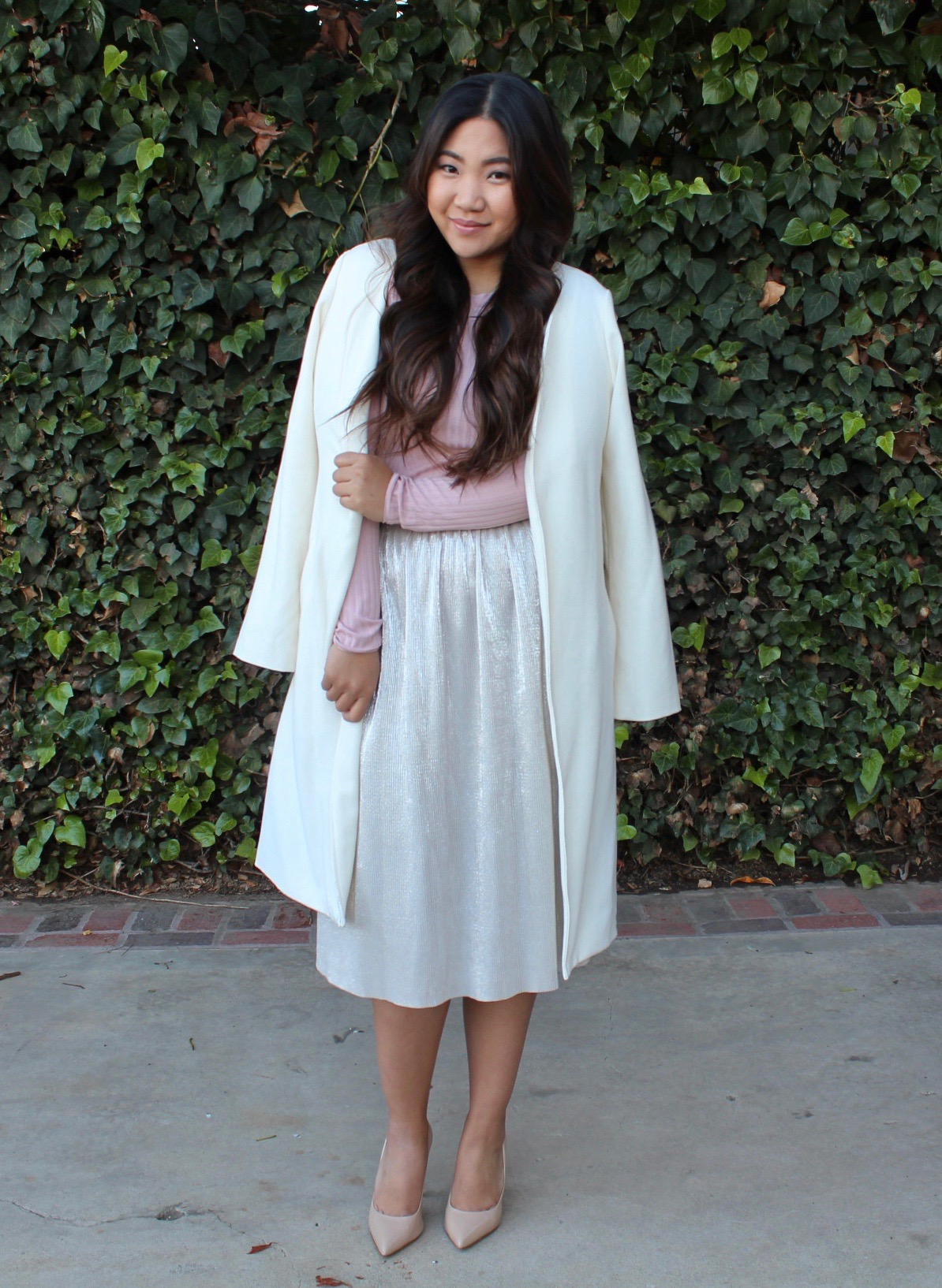 Tia Wong - Who What Wear Micro Pleat Midi Skirt