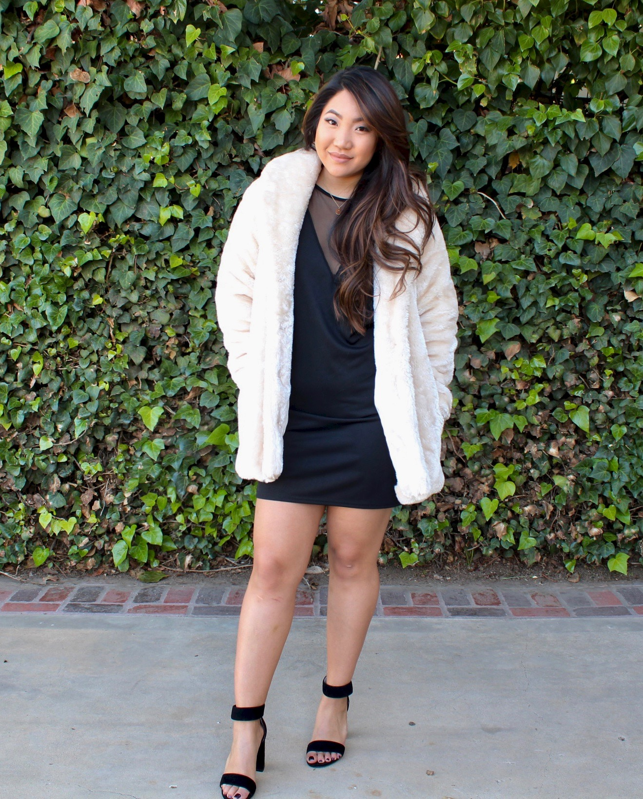 Tia Wong - White Faux Fur Jacket