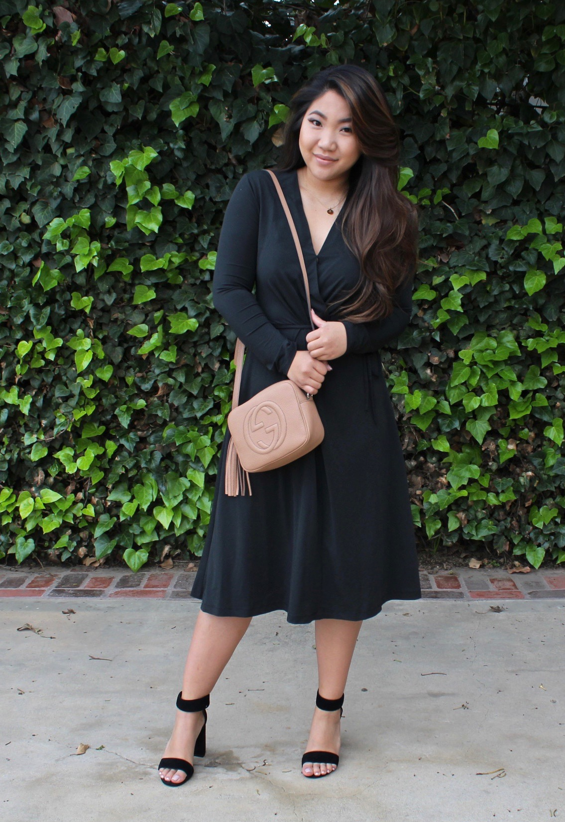 Tia Wong - Black Wrap Dress